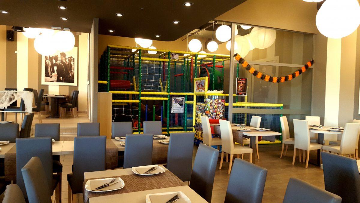 L'area giochi del ristorante Tourlé di Baranzate
