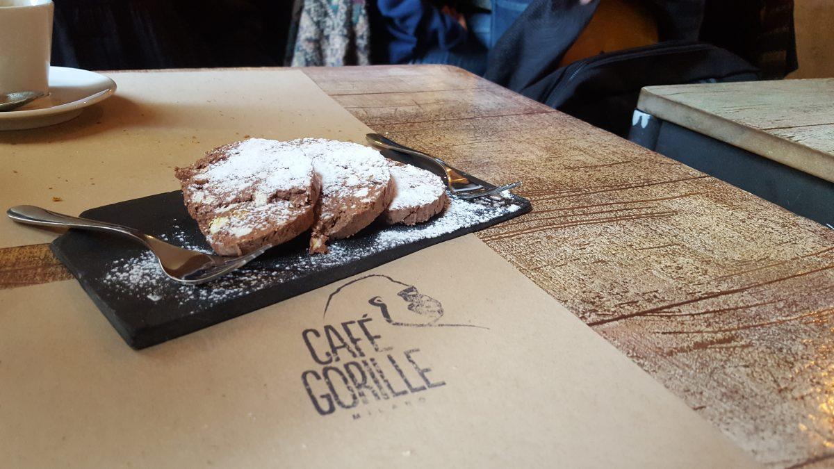 Salame di cioccolato al Cafè Gorille